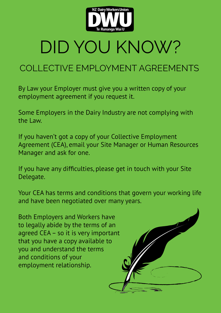New Zealand Dairy Workers Union | Did You Know? – Collective
