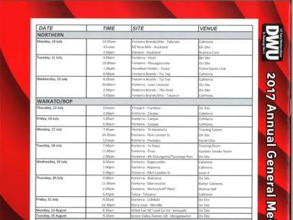 2017 AGM Dates