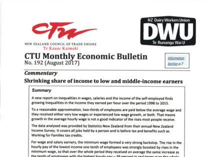 CTU Bulletin – August 2017
