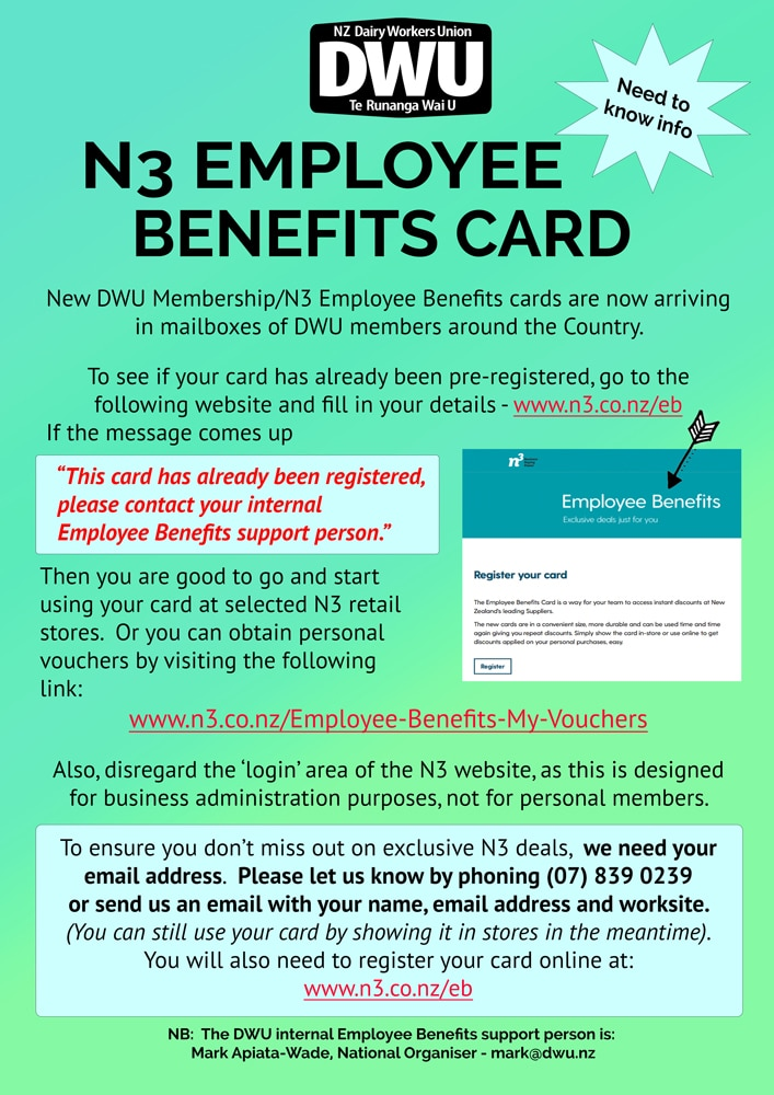 New zealand dairy workers union new dwu membershipn3 employee new dwu membershipn3 employee benefits card reheart Gallery